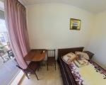 2-х местный,однокомнатный номер с балконом.В номере есть, двухспальная кровать  с ортопедическим матрацем,прикроватная тумбочка,вешалка,  зеркало,шкаф для вашей одежды,стол,стулья,LCD 32