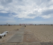Затока станция Солнечная широкий пляж база отдыха Дельфин фото