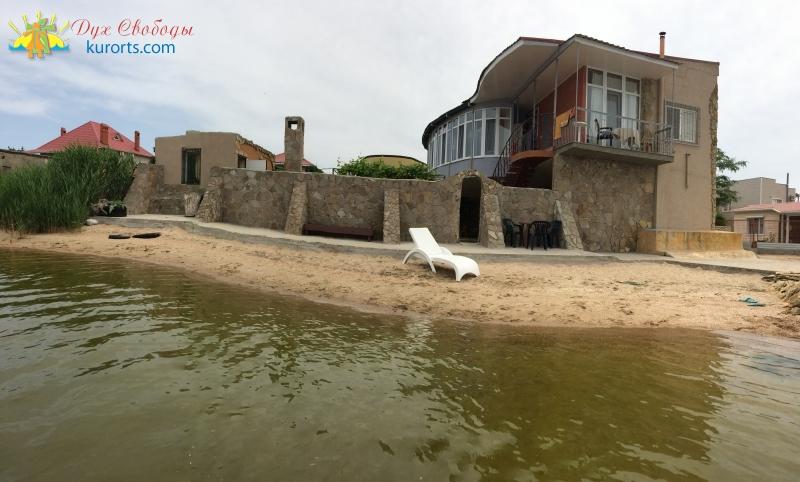 Мини-отель Калипсо Затока станция Дружба пляж на берегу лимана фото