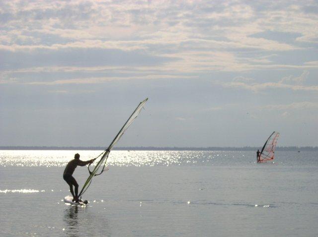 Віндсерфінг на Дністровському лімані курорта Затока фото