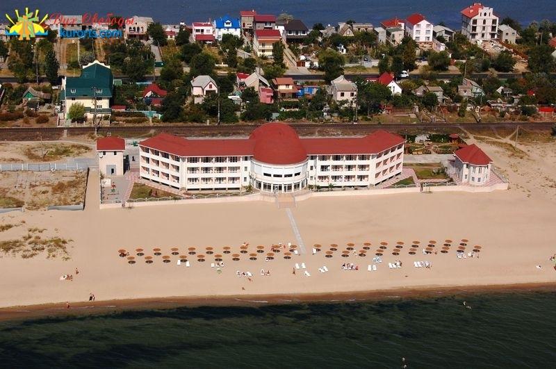 Станція Дружба пансионат Радуга пляж і море вигляд с пташиного польоту фото