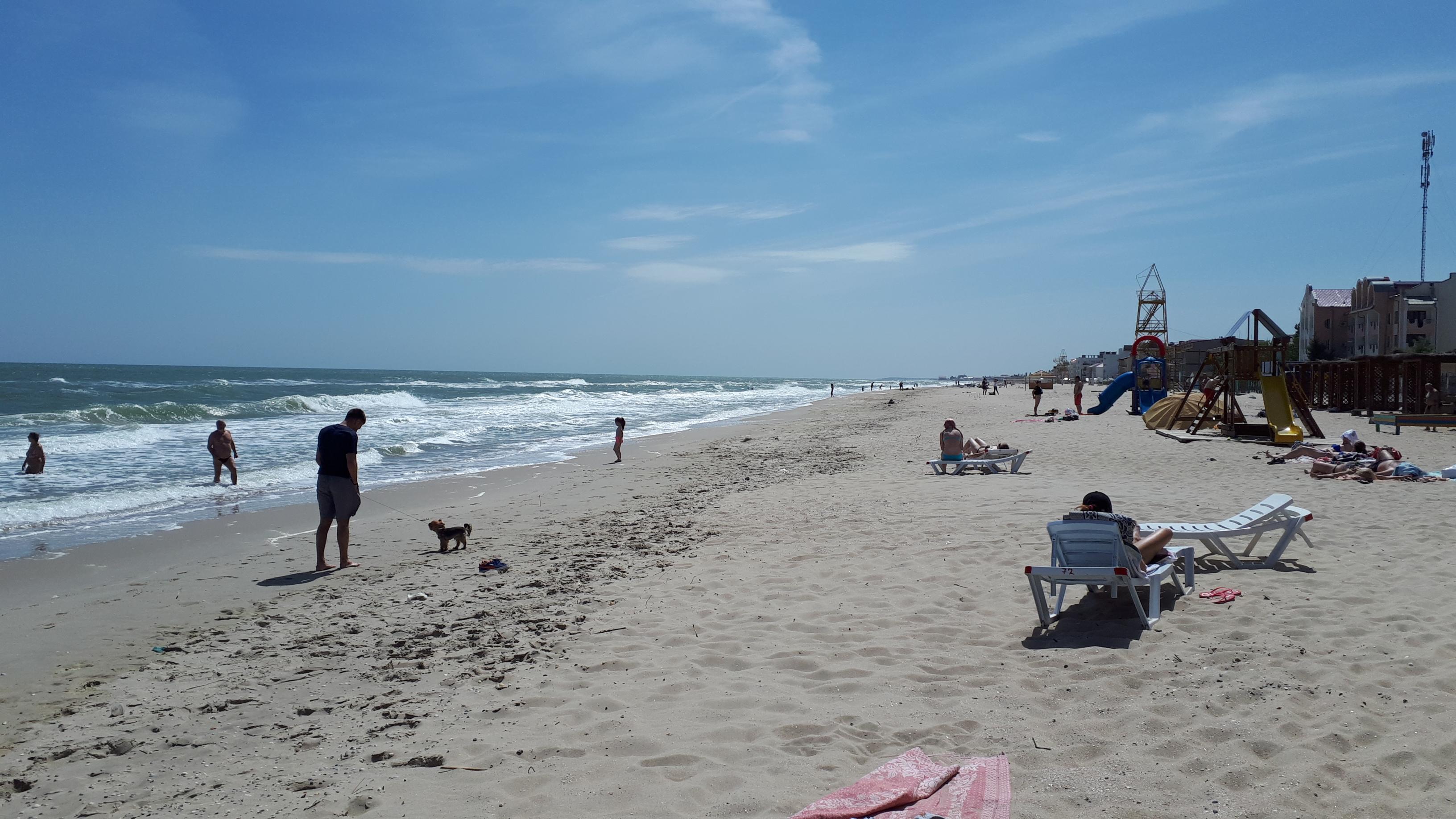 Затока центральный пляж и море май фото