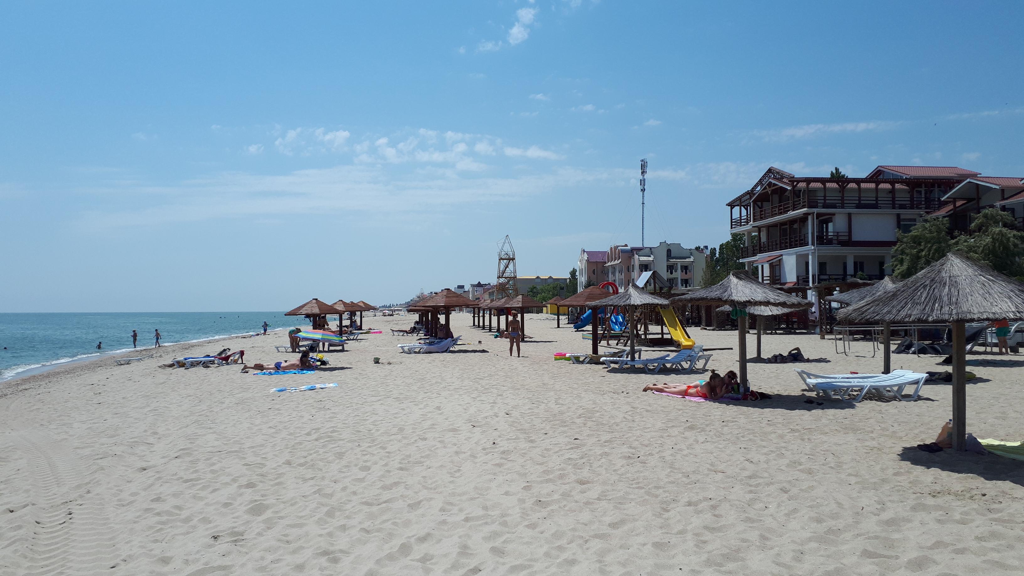 Затока центральний пляж вигляд вздовж море фото