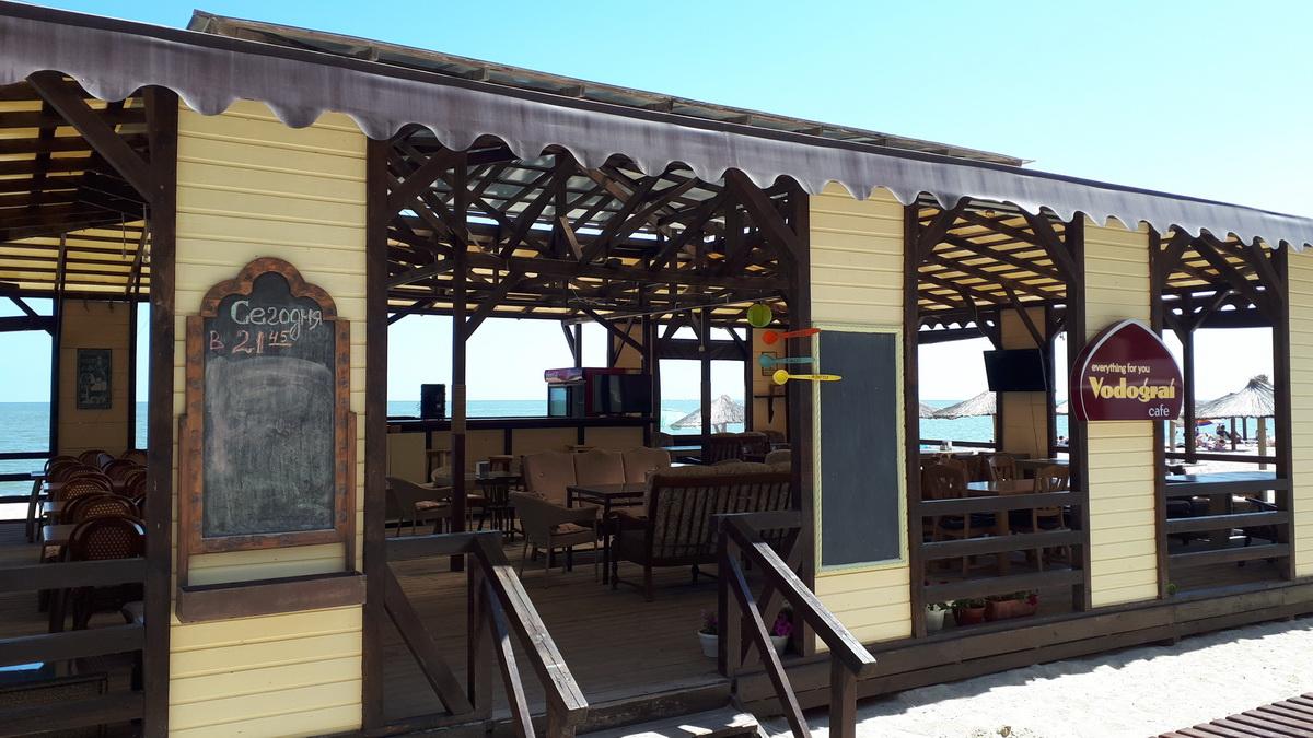 Кафе Водограй Затока центральный пляж фото