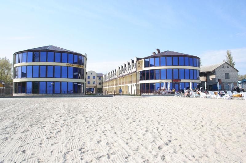 База отдыха Солнечная Затока вид с пляжа фото