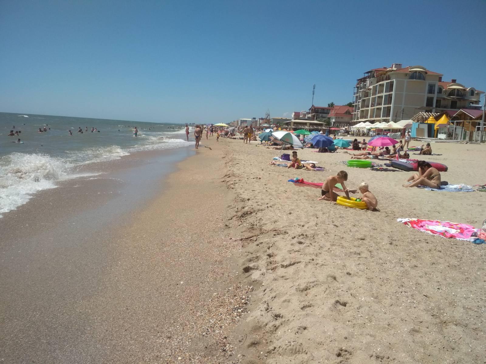 Затока центральний пляж море лето отдых фото